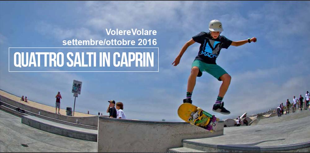 """VolereVolare settembre/ottobre 2016 """"Quattro salti in Caprin"""""""